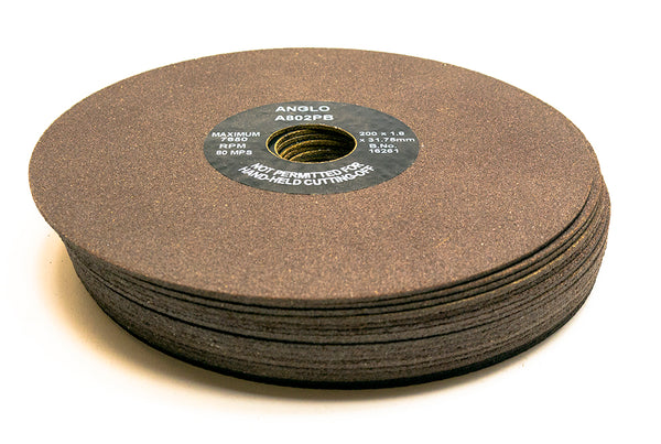 Anglo Abrasive Cutting Wheels 200mm x 1.8mm A802PB Pack of 10