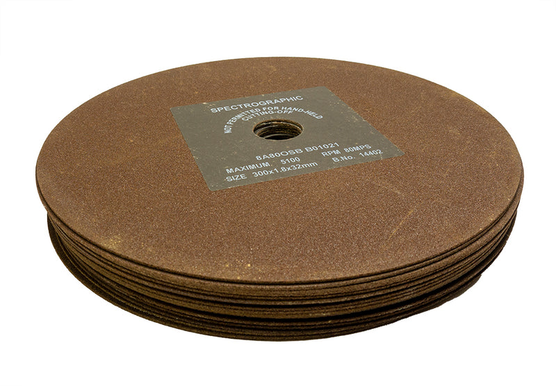 Anglo Abrasive Cutting Wheels 300mm x 1.8mm 8A80OSB Pack of 5
