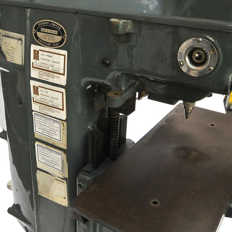 Vickers Hardness Tester - Armstrong Pedestal
