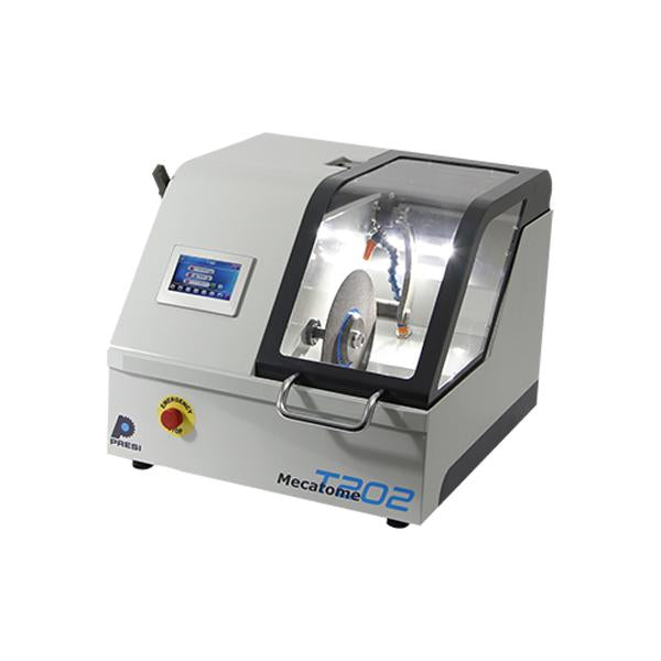 Presi Mecatome T202 compact cutting machine closed hood