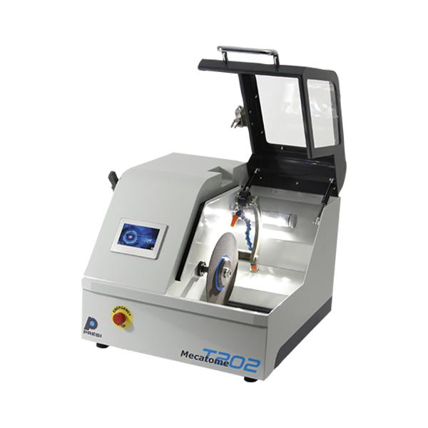 Presi Mecatome T202 compact cutting machine open hood