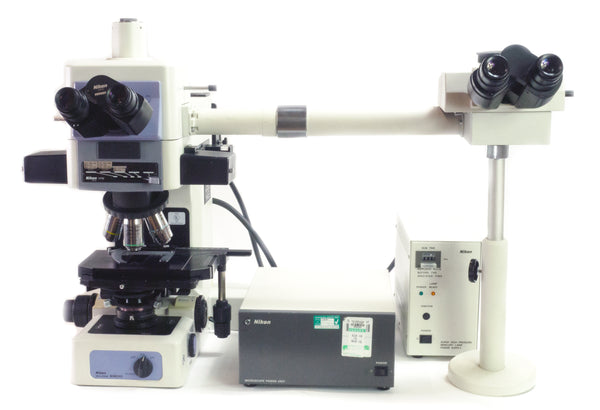 Nikon Eclipse E800 Fluorescence Microscope with Multi Teaching Head