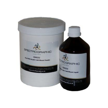 Acrylic Resin Fast Cure VA50 bottle and tub