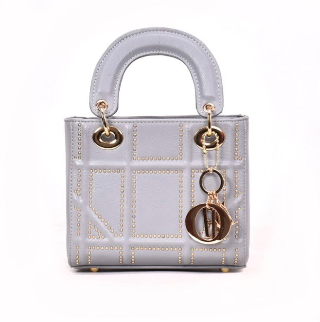 Gigi Studded Bag - Grey