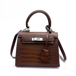 Mini Croc Bag Brown