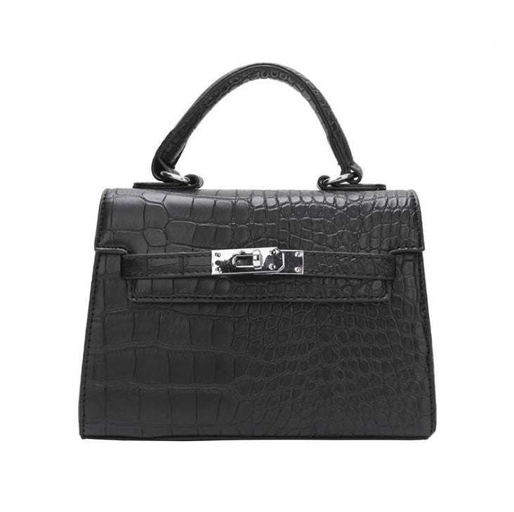 New: NANO Croc Bag Black