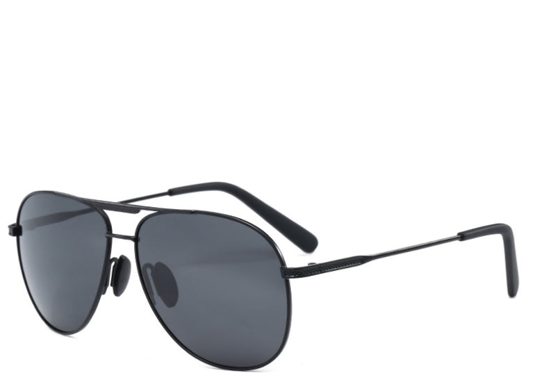 Women's black oversized aviator sunglasses