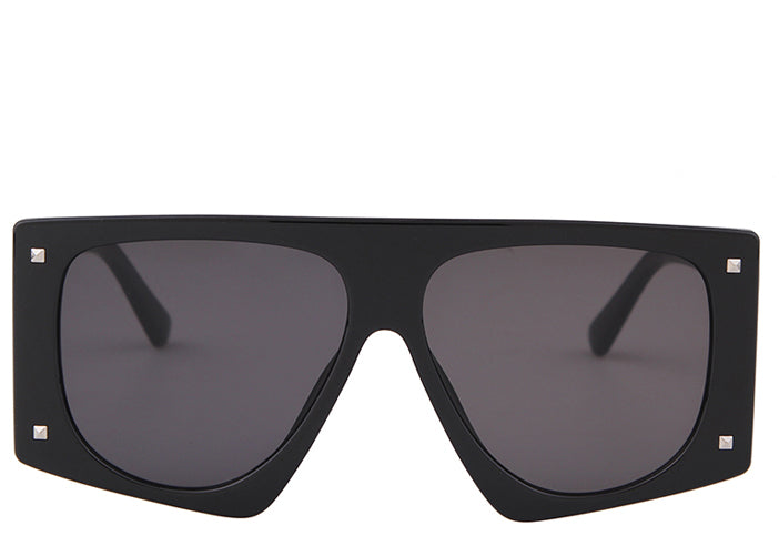 Women's chunky black oversized square sunglasses