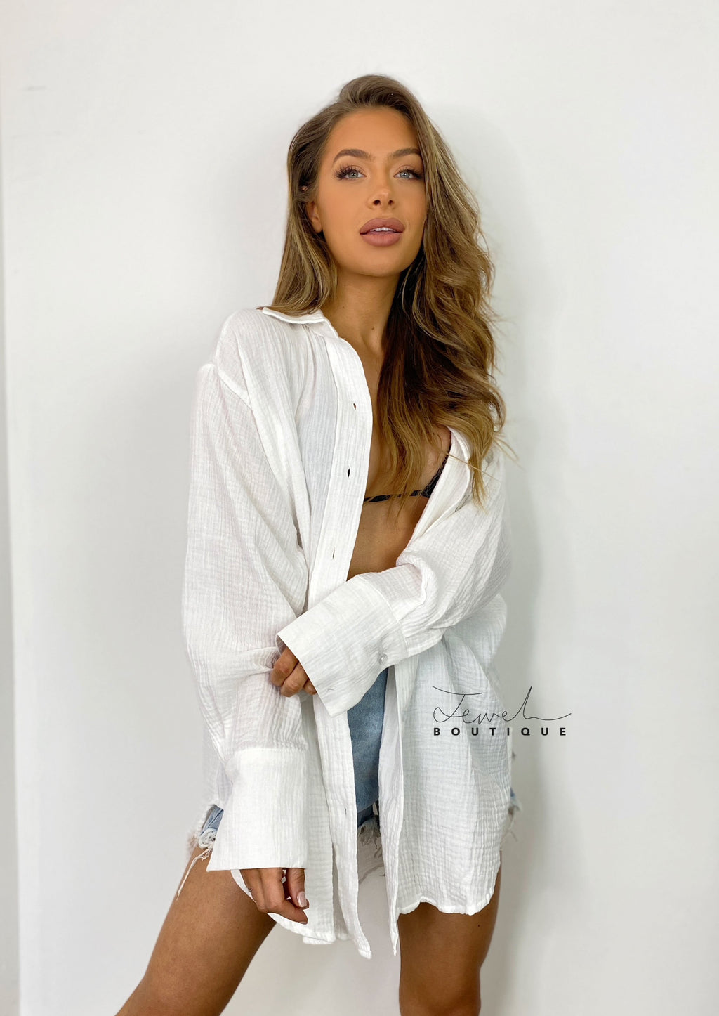 Lottie White Oversized Shirt