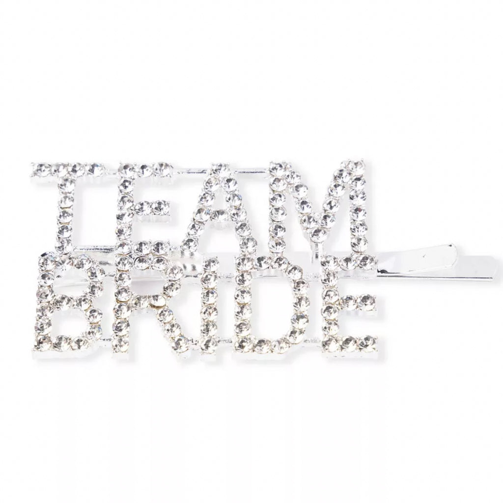 TEAM BRIDE Diamante Hair Clip Pin / Slide