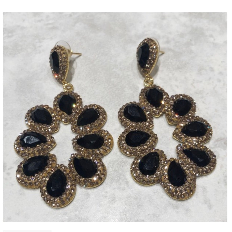Paris Earrings - Gold / Black