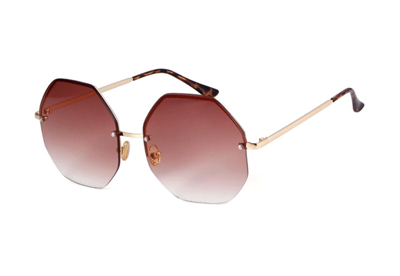 Kos Ombré Tinted Sunglasses - Brown