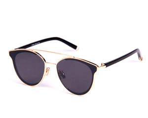 Cannes Sunglasses - Black & Gold