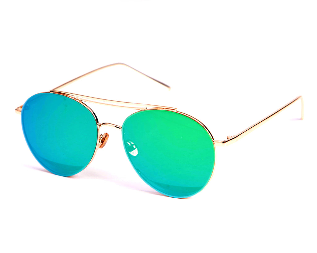 Cabo Brow Bar Aviators - Green (Sold Out)