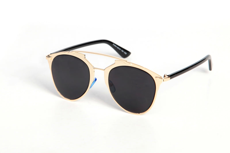 Classic Black & Gold Sunglasses