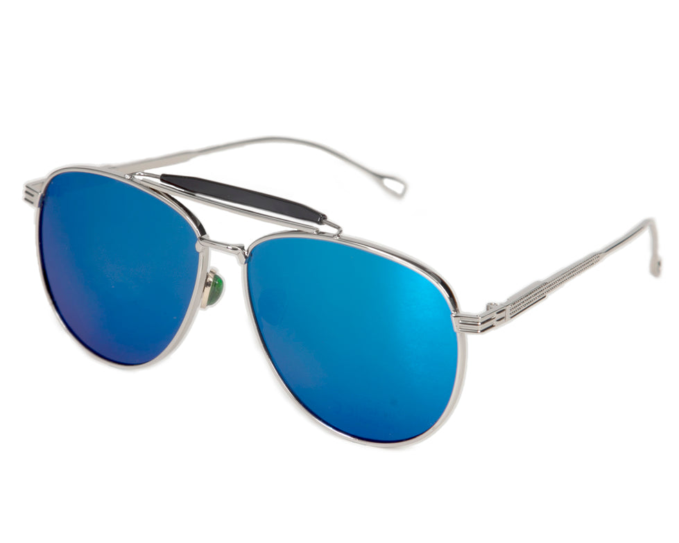 Ibiza Oversized Aviator Sunglasses - Dark Blue