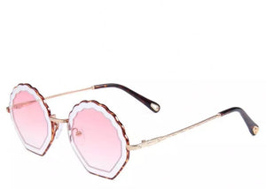 Pink gradient women's shell tinted sunglasses