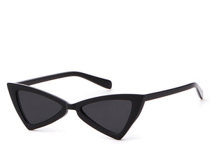 Women's cool retro black slim sunglasses