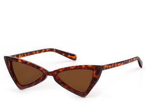 Ladies cool modern sunglasses with tortoiseshell frame and brown lens