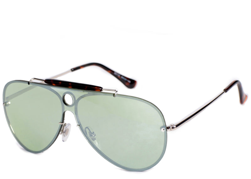 Women's stylish green tint sunglasses perfect for a holiday