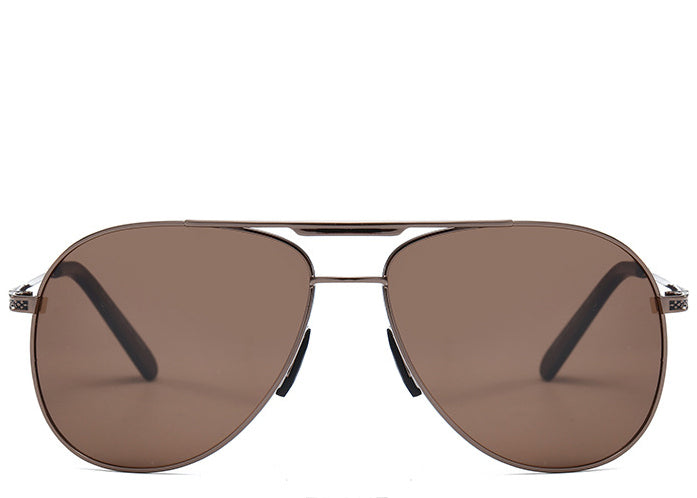 Cuba Brown Oversized Aviators