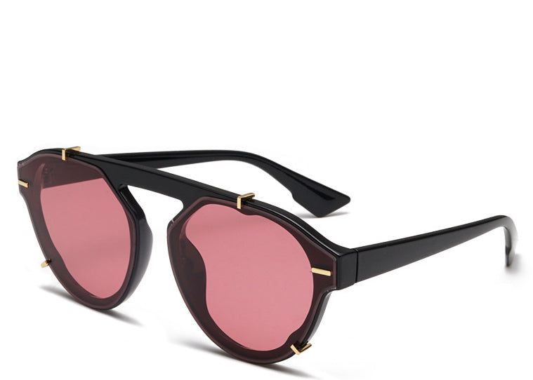 Monaco Round Red Tint Sunglasses
