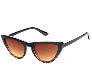 Women's tortoiseshell brown chic cat eye sunglasses
