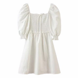 Tami Puff Sleeve White Dress