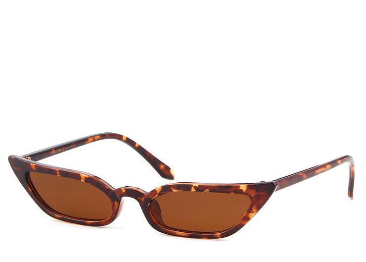 Women's retro slim tortoiseshell sunglasses