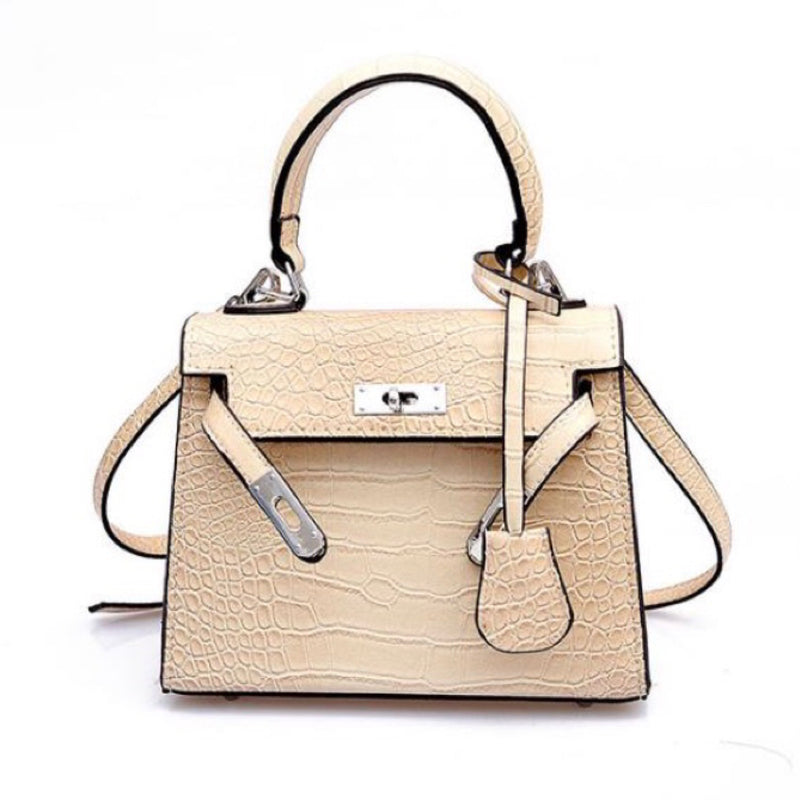 Mini Croc Bag Beige