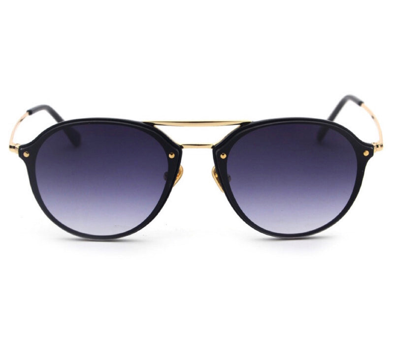 Jamaica Aviator Suglasses - Black / Gold