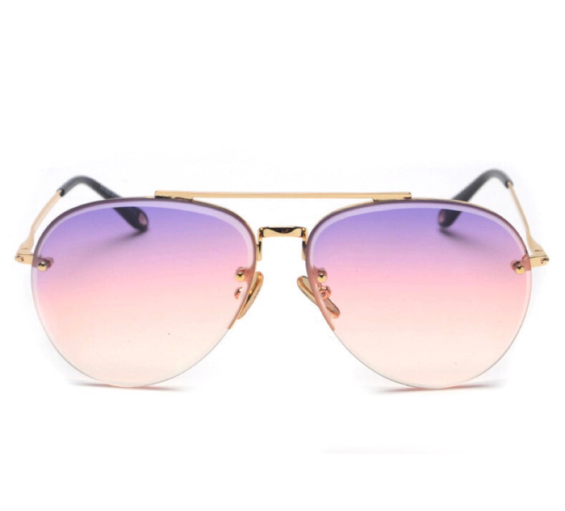 Mexico Aviator Suglasses - Rainbow Tint