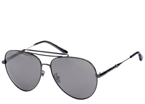Women's all black oversized aviator sunglasses