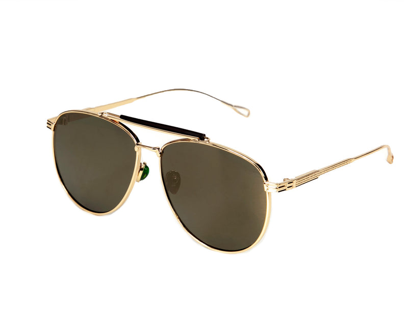 Ibiza Oversized Aviator Sunglasses - Gold Mirrored