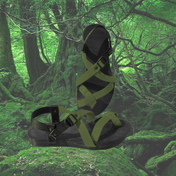 Athena-Artemis Sandal Collection-Dark Moss