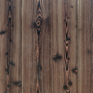 Shou Sugi Ban Larch Twice-Brushed (Sample)