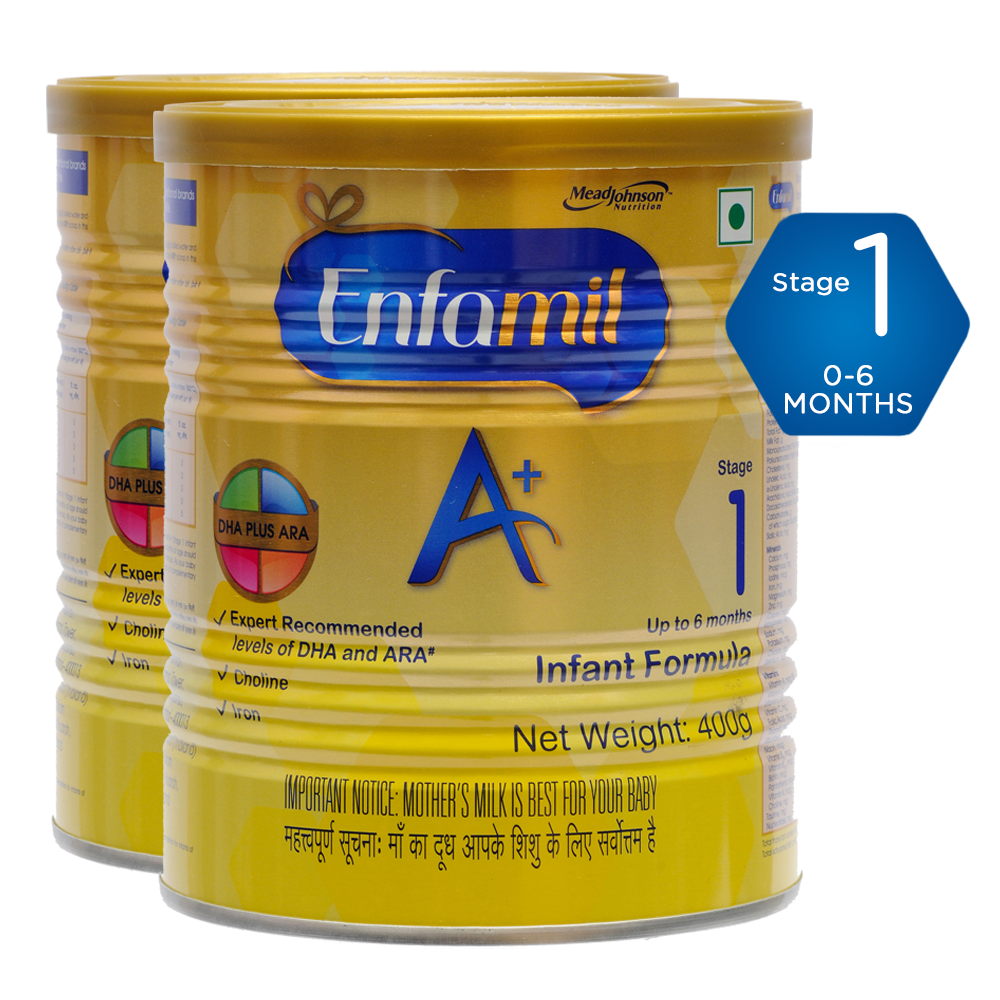 Enfamil A+ Stage 1 - 400g Pack of 2