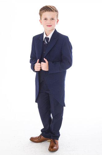 Page Boys - Navy Tailcoat Age 8-12