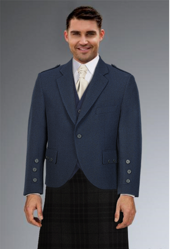 Cameron Ross - Navy Tweed Highland