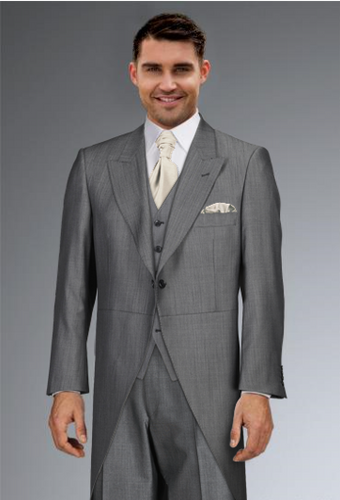 Cameron Ross - Silk Grey Tailcoat