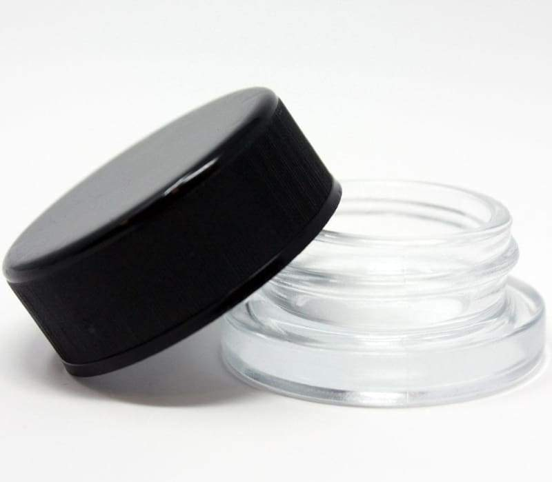 9ml Child Resistant Jar with Black Lids-glass jar-Heavy bottom glass jars extract packaging 5ml 6ml jar 7ml jar 9ml jar cr jar child resistant