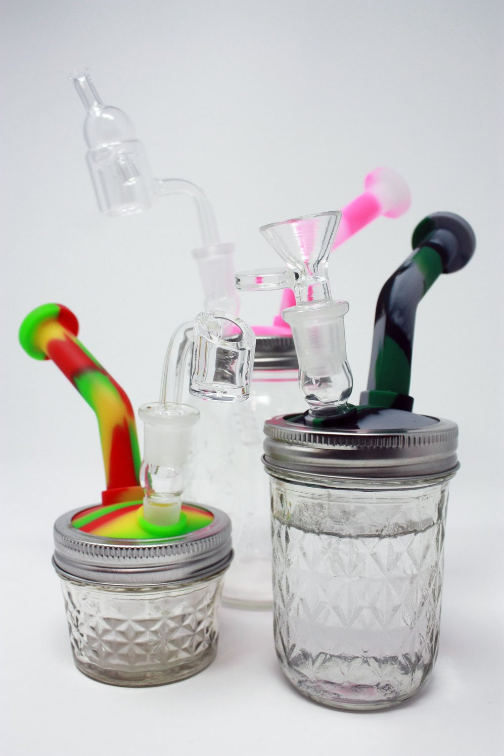 Jar Jar Bong-Silicone rigs Silicone spoons dab rig oilslick oil slick
