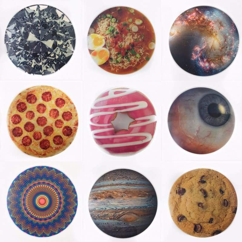 Oil Slick® Canvas Rounds-Featured,Non-Stick Pads,Oil Slick Products-silicone Dab pad mood mat silicone mat slick mat slick pad dab tray mothership pad