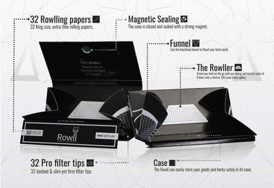 Rowll Rolling Paper Kit-Silicone rigs Silicone spoons dab rig oilslick oil slick