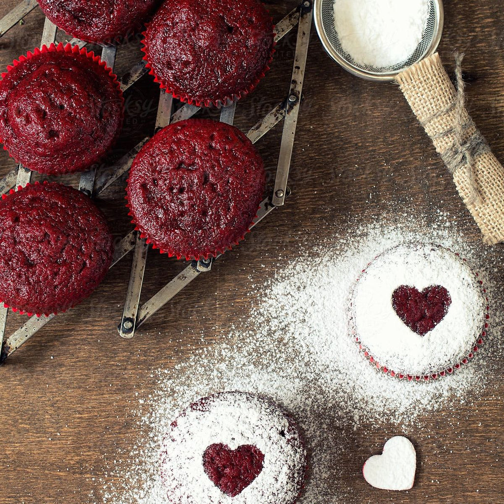 Haskap 'healthy' red velvet cupcakes