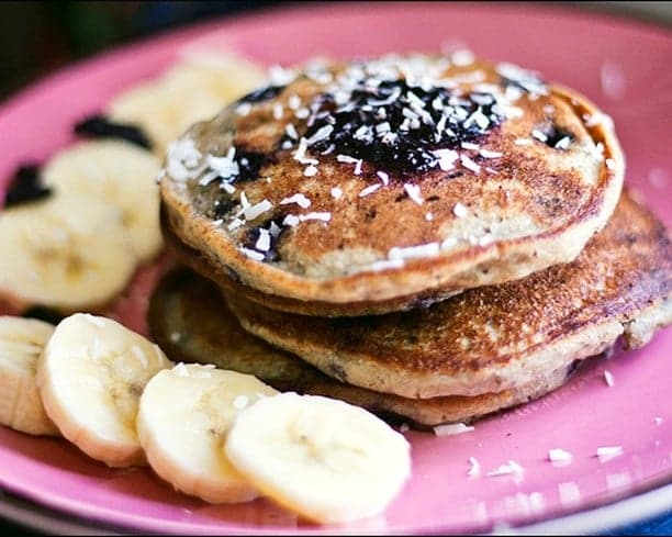 Vegan purple pancakes