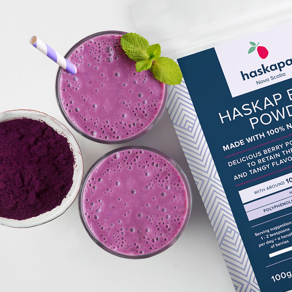 Haskapa Healthy Morning Smoothie - rich in Anthocyanins