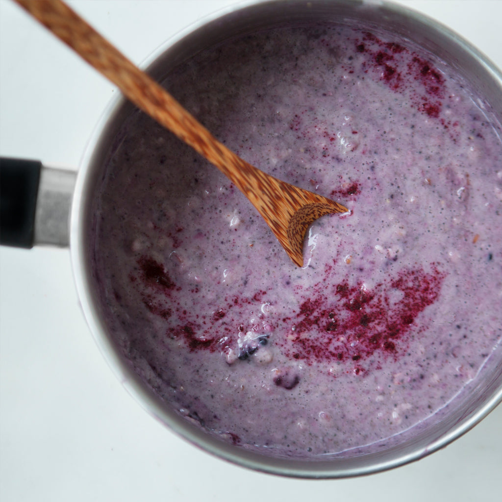 Winter Warmer - Purple Porridge with Haskapa