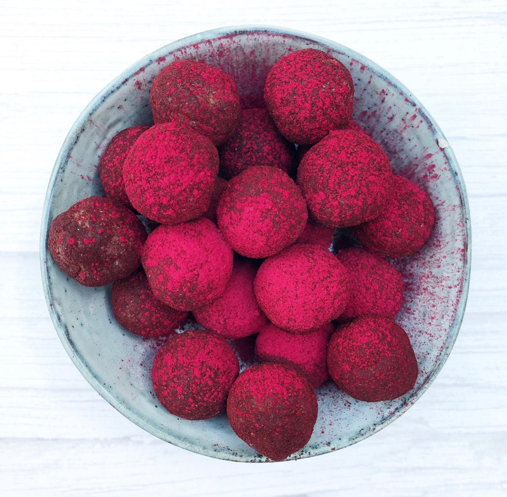 'Berries 'n' cream' haskap energy balls