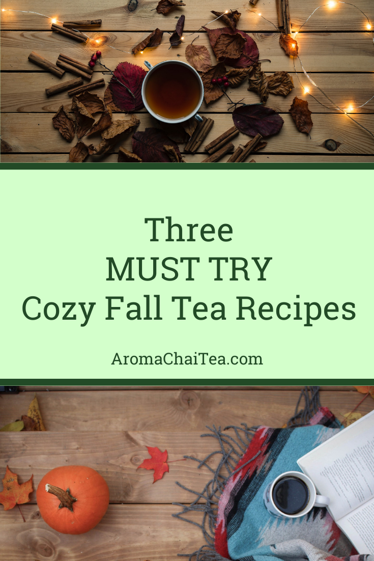 Three MUST TRY Cozy Fall Tea Recipes by Aroma ChaiTea